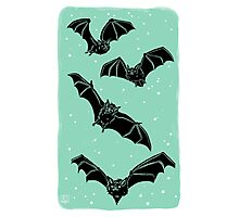 Batty in Mint Photographic Print