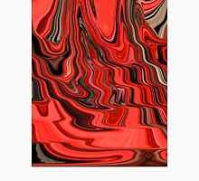 Red and Black Flowing Abstract Design Unisex T-Shirt