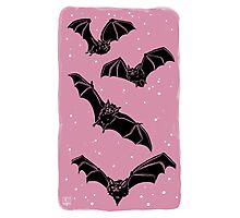 Batty in Rose Photographic Print