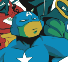 Turtles Avengers Sticker