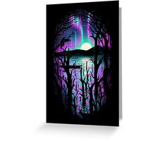 Night With Aurora Greeting Card