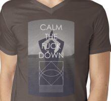 Calm The Fuck Down Mens V-Neck T-Shirt