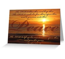 Numbers 6:24 - Peace Greeting Card