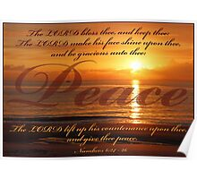 Numbers 6:24 - Peace Poster