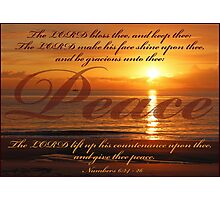 Numbers 6:24 - Peace Photographic Print