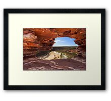 Peaking Through Natures Window  Framed Print