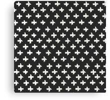 Swiss Cross at Midnight Canvas Print