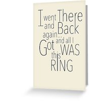 There and Back Greeting Card