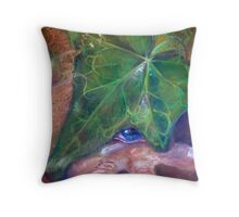 Leaf me alone. Throw Pillow