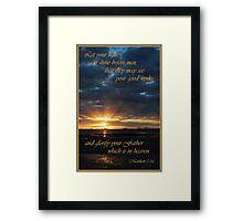 Let Your Light Shine - Matthew 5:16 Framed Print