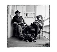 Dave, his dog, and his dad Dennis.. by Brett Squires
