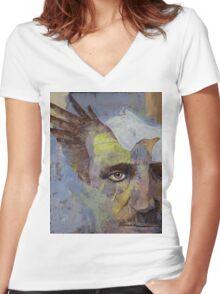 Poe Women's Fitted V-Neck T-Shirt