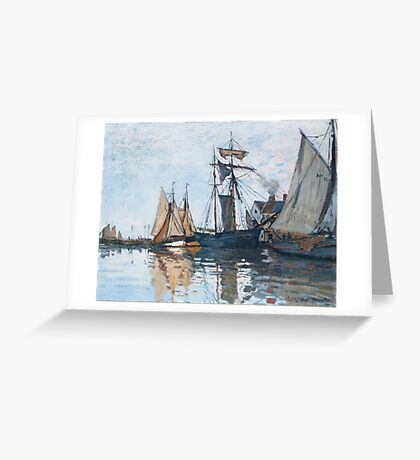 Claude Monet - Boats In The Port Of Honfleur, 1866 Greeting Card