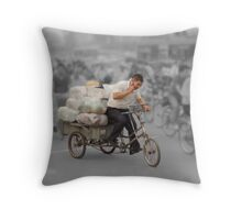 The delivery man Throw Pillow