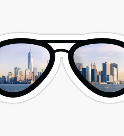 NYC Pride - Skyline Sunglasses Sticker