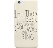 There and Back iPhone Case/Skin