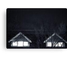 Eery window        Canvas Print