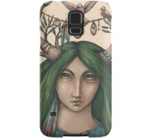 Past green fields and forest Samsung Galaxy Case/Skin