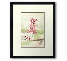 Paper Towns Typography Framed Print