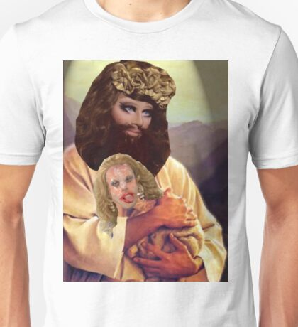 Drag Jesus Trixie with a Katya Lamb Unisex T-Shirt