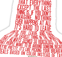 Paper Towns Typography - SFW Sticker