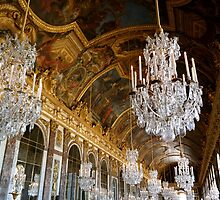 Hall of Mirrors, Versailles by Ludwig Wagner