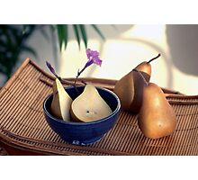 Morning Pears Photographic Print
