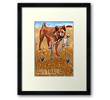 Greetings From Australia - Dingo Framed Print
