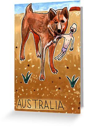 Greetings From Australia - Dingo by John Douglas