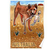 Greetings From Australia - Dingo Poster