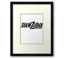 Shawarma Hero Approved Framed Print