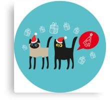 Furry Christmas Canvas Print