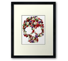 Flower Skull Framed Print