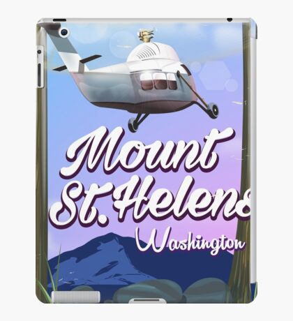 Mount St. Helens Washington Travel poster iPad Case/Skin
