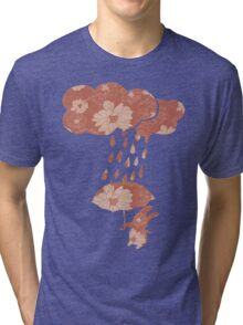 Song of the Rain (Floral pattern) Tri-blend T-Shirt