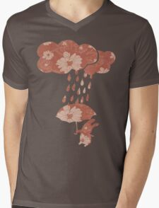 Song of the Rain (Floral pattern) Mens V-Neck T-Shirt