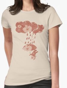 Song of the Rain (Floral pattern) Womens Fitted T-Shirt
