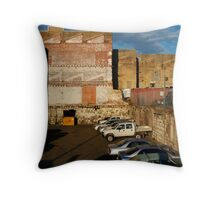 Back Alley Parking Throw Pillow