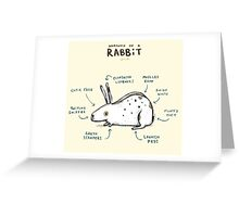 Anatomy of a Rabbit Greeting Card