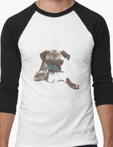 Funny Mustache Pug Men's Baseball ¾ T-Shirt