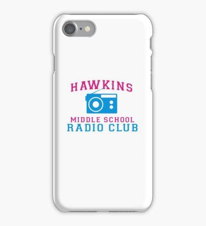HAWKINS MIDDLE SCHOOL RADIO CLUB iPhone Case/Skin