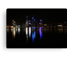 Perth The City Of Lights  Canvas Print