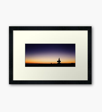 North Mole Lighthouse At Dusk  Framed Print