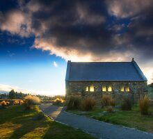 Church of the Good Shepherd - Sunset by Mel Brackstone