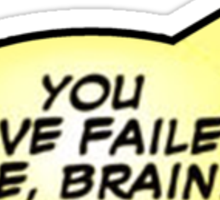 Deadpool Quote: Failed Brain Sticker