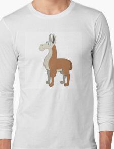 Friendly cartoon lama Long Sleeve T-Shirt