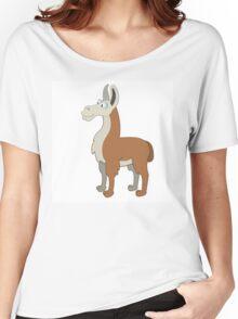 Friendly cartoon lama Women's Relaxed Fit T-Shirt