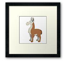 Friendly cartoon lama Framed Print