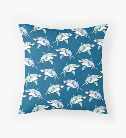 Shiver of Sharks - II Throw Pillow