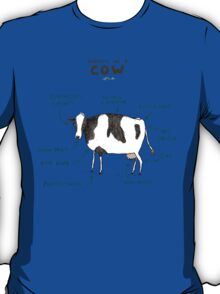 Anatomy of a Cow T-Shirt